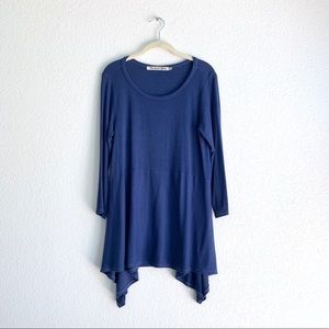 Michael Stars Boat Neck Ribbed Tunic Top OS
